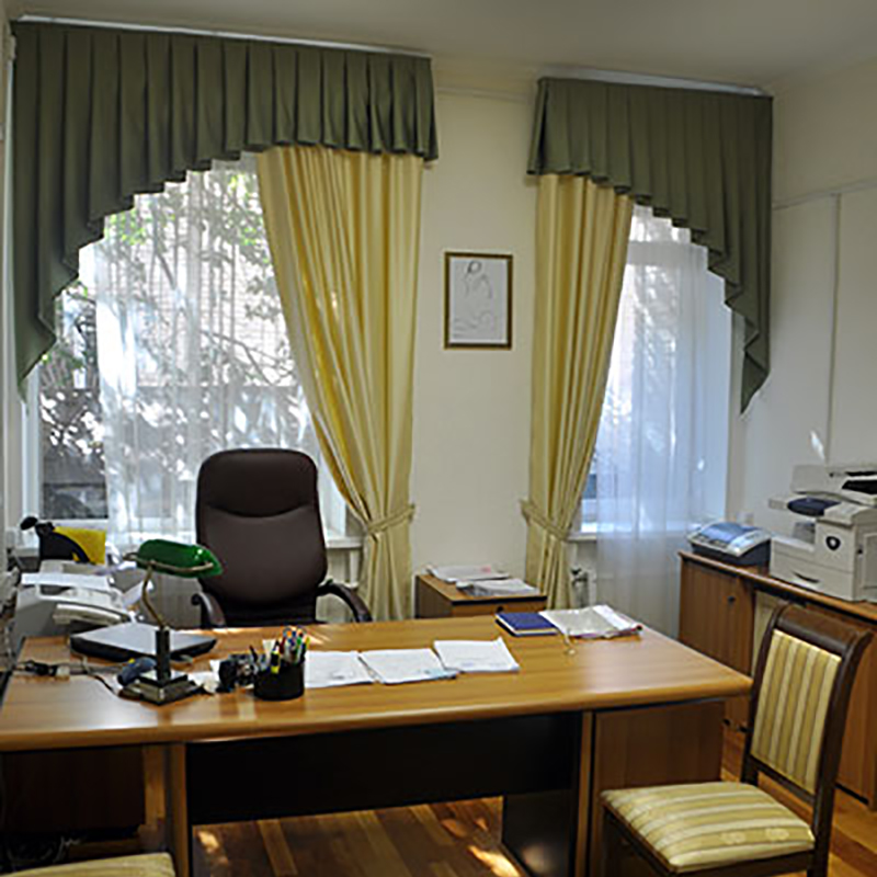 Дизайн штор для кабинетов